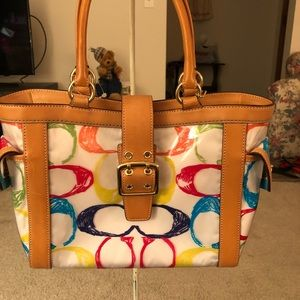 Coach Scribbles tote satchel